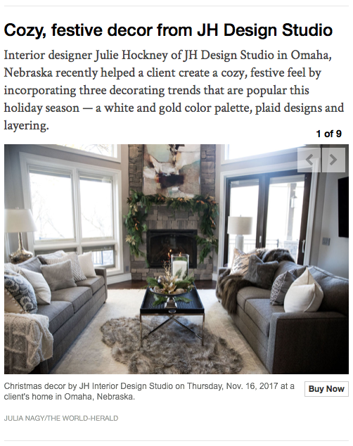 jh Interior Design featured in Omaha World Herald