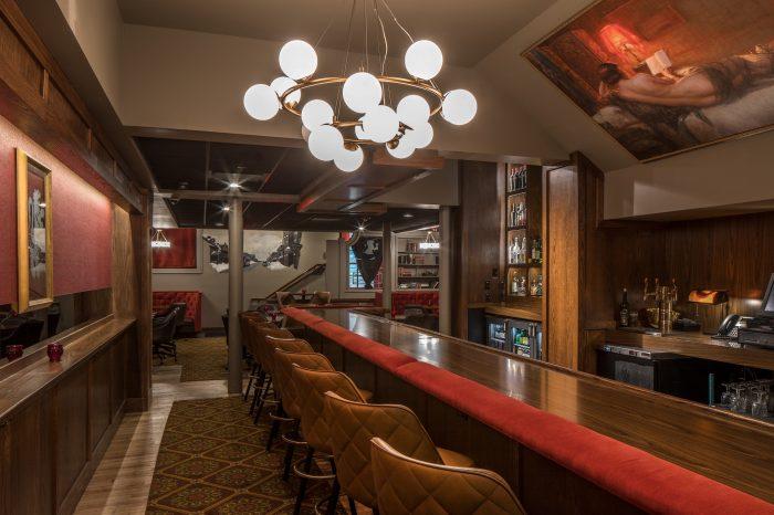 red lion lounge design