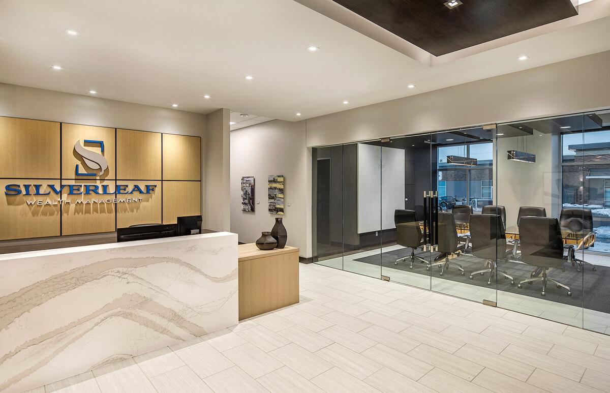 entrance design for silverleaf wealth management