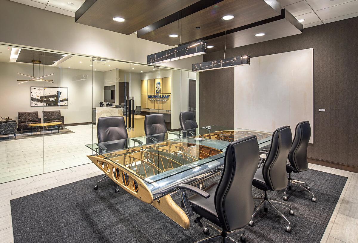 conference room design for silverleaf wealth management