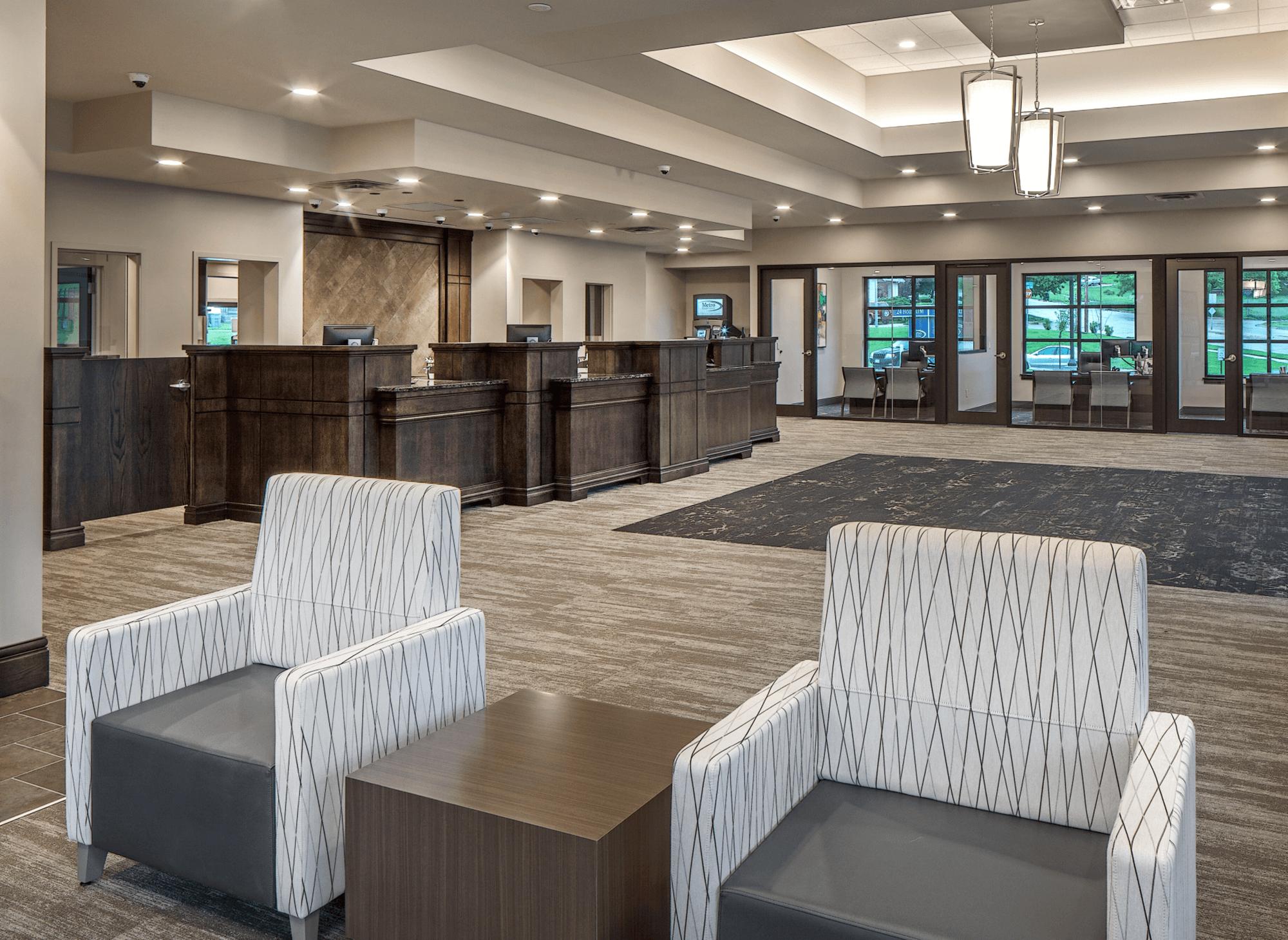 Metro Credit Union interior design