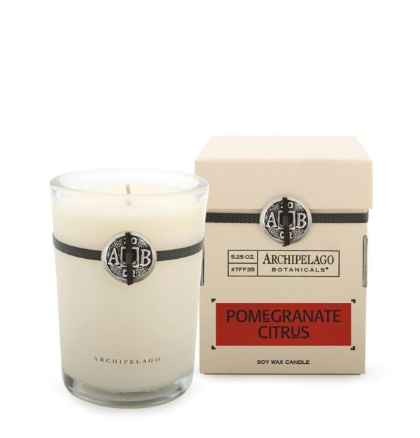 scented candles pomegranate citrus