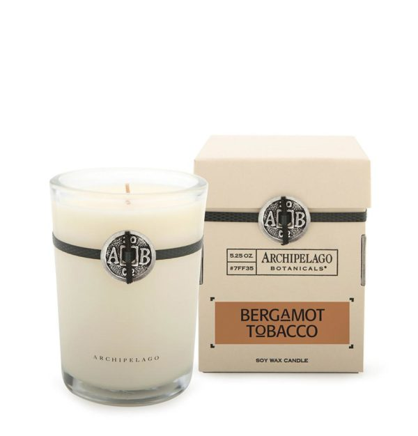 scented candles bergamot tobacco