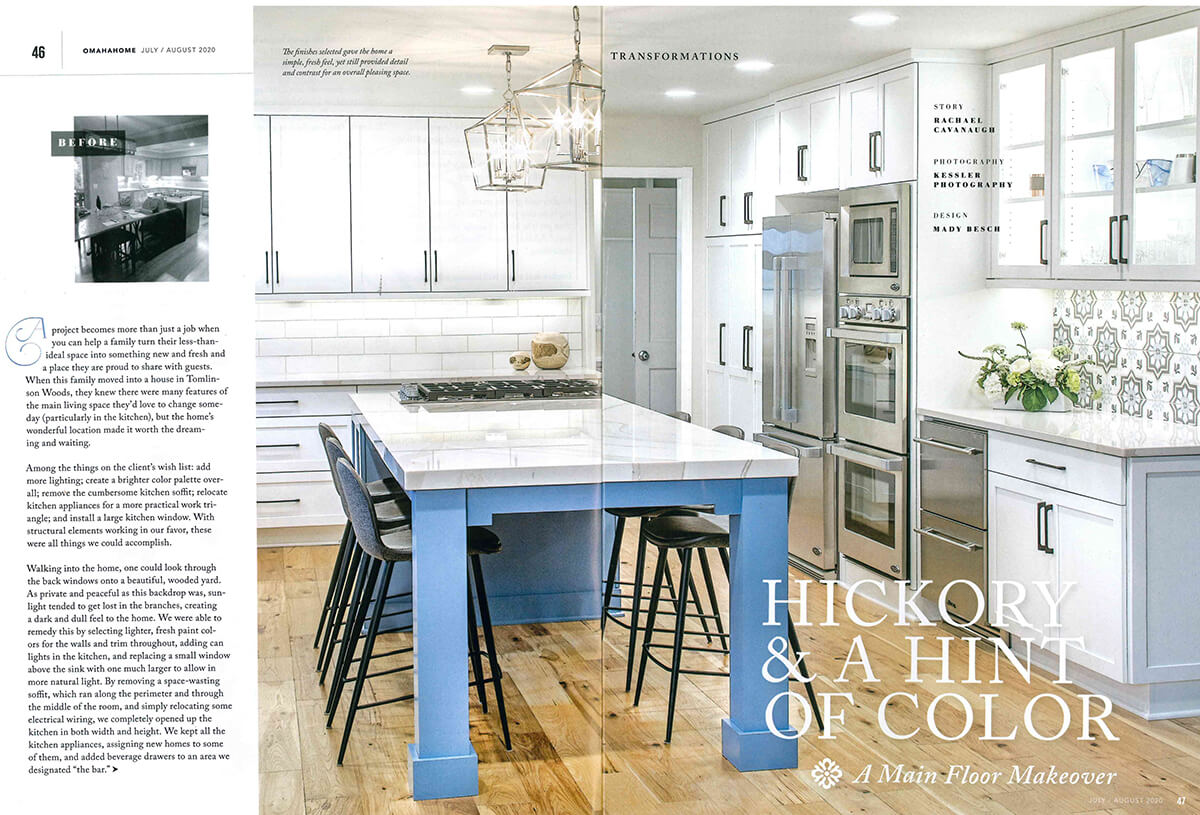jh Interior Design featured in Omaha Home Magazine